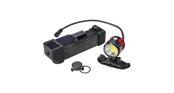 CatEye Volt6000 HL-EL6000RCPL Helmlampe schwarz/rot